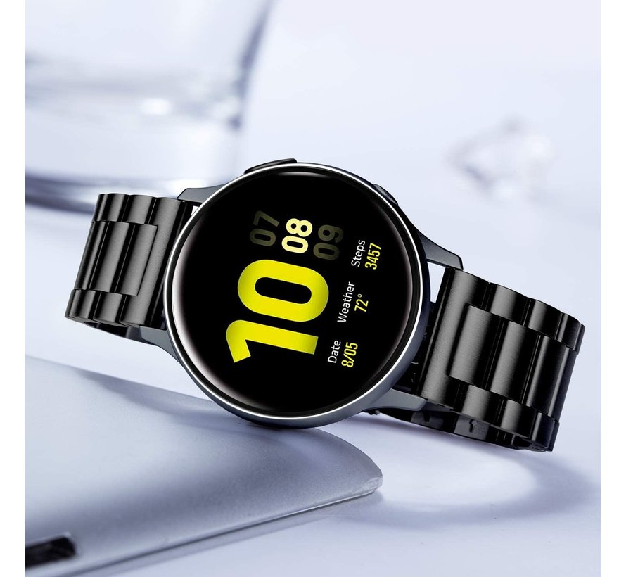 Samsung Galaxy Watch Active stalen band (zwart)