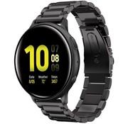 Strap-it® Samsung Galaxy Watch Active stalen band (zwart)