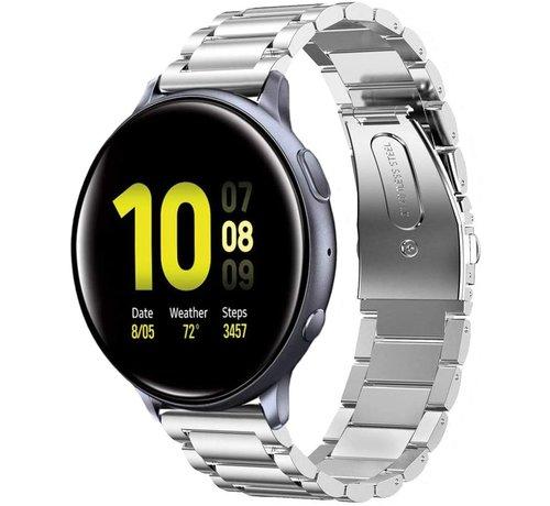 Strap-it® Strap-it® Samsung Galaxy Watch Active stalen band (zilver)