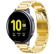 Strap-it® Samsung Galaxy Watch Active stalen band (goud)