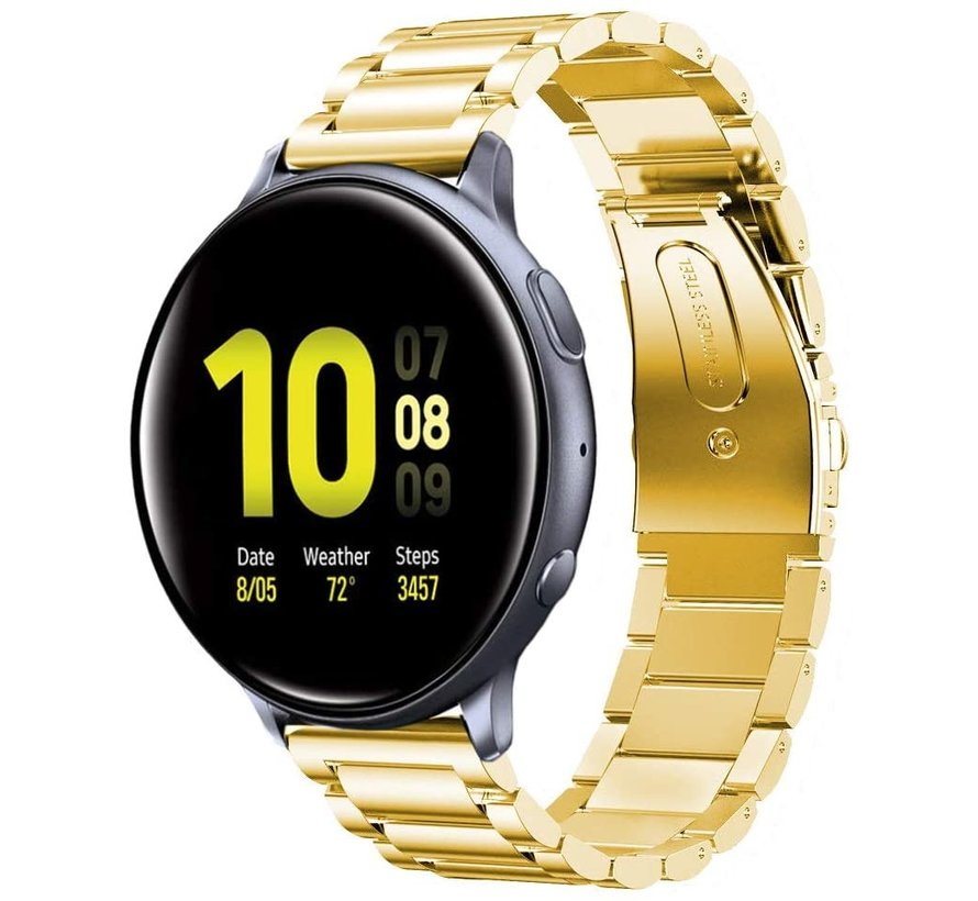 Samsung Galaxy Watch Active stalen band (goud)