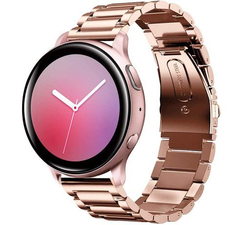 Strap-it® Strap-it® Samsung Galaxy Watch Active stalen band (rosé goud)