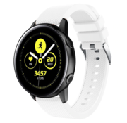 Samsung Galaxy Watch Active silicone band (wit)