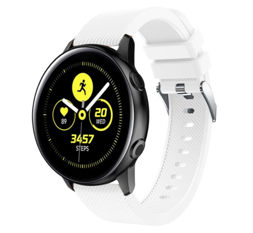 Strap-it® Strap-it® Samsung Galaxy Watch Active silicone band (wit)