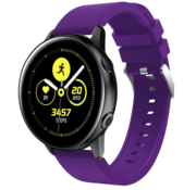 Strap-it® Samsung Galaxy Watch Active silicone band (paars)