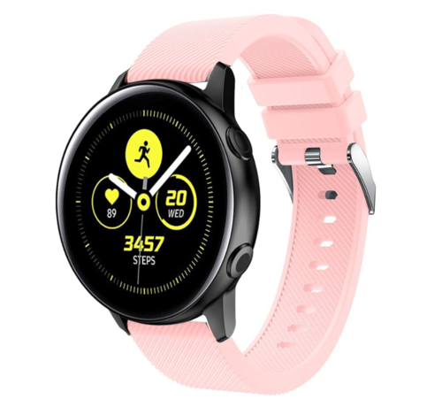Strap-it® Strap-it® Samsung Galaxy Watch Active silicone band (roze)