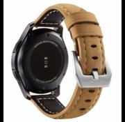 Samsung Galaxy Watch kalfsleren band 41mm / 42mm (beige)