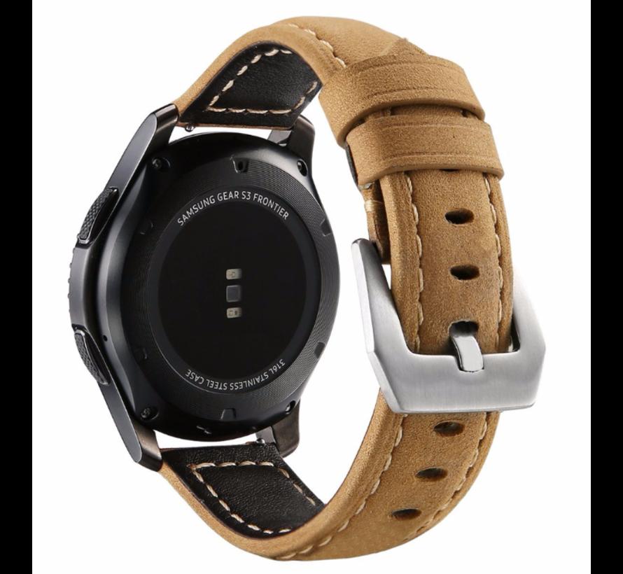 Samsung Galaxy Watch kalfsleren band 46mm (bruin)