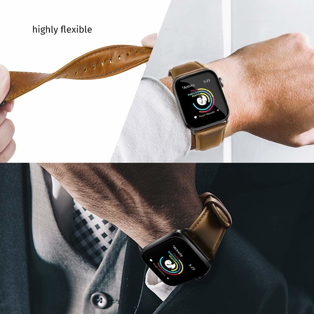 apple watch bandje leer