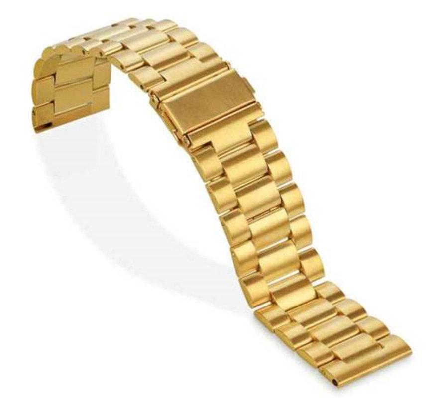 Strap-it® Fitbit Versa stalen bandje (goud)
