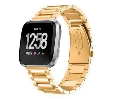 Strap-it® Strap-it® Fitbit Versa stalen bandje (goud)