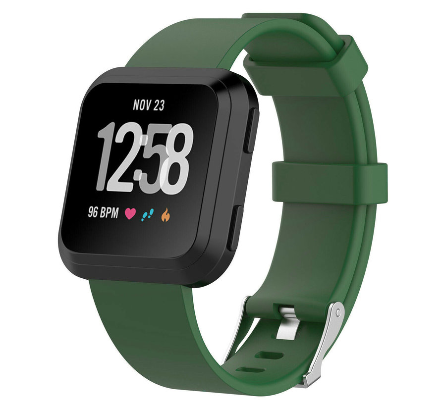 Strap-it® Fitbit Versa silicone band (groen)