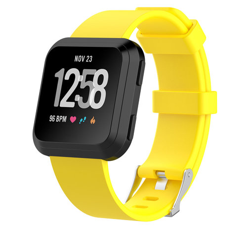 Strap-it® Strap-it® Fitbit Versa silicone band (geel)