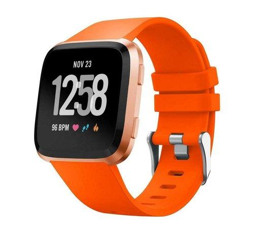 Strap-it® Strap-it® Fitbit Versa silicone band (oranje)