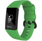 Strap-it® Fitbit Charge 4 silicone band (groen)