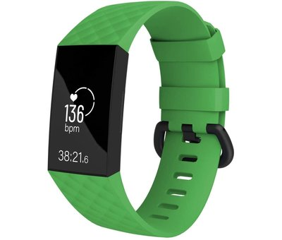 Strap-it® Strap-it® Fitbit Charge 4 silicone band (groen)