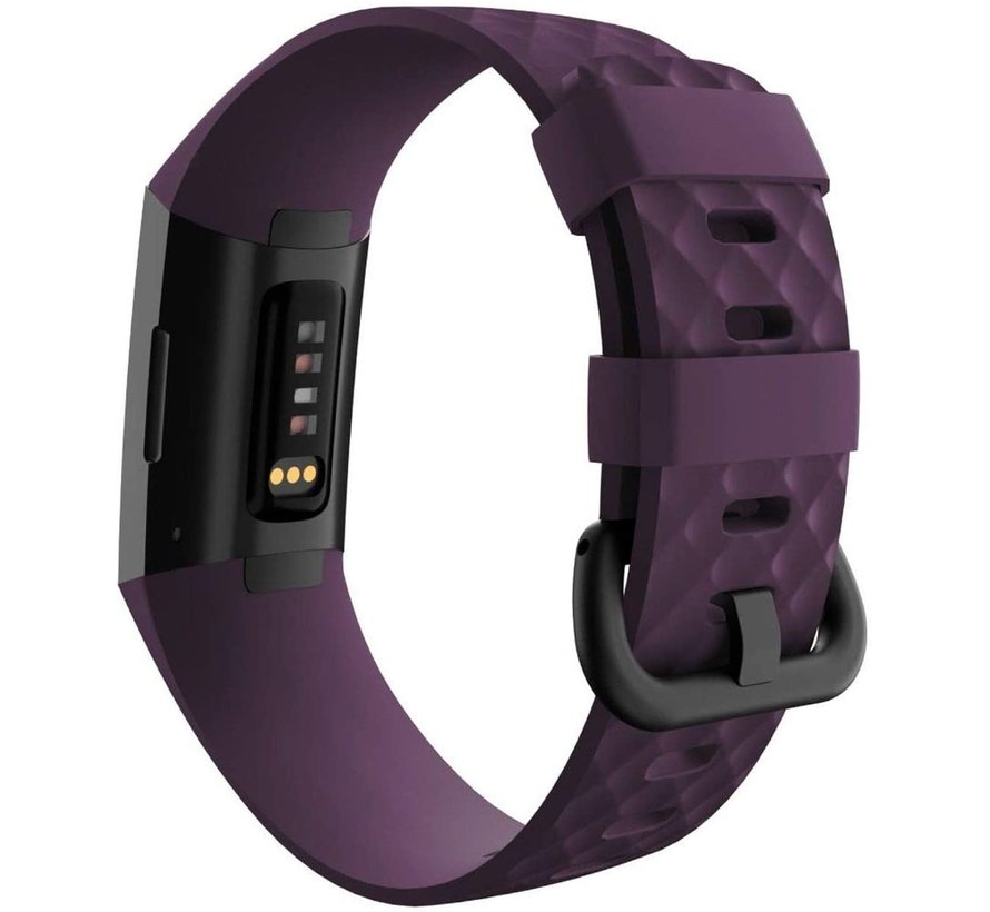 Strap-it® Fitbit Charge 4 silicone band (paars)