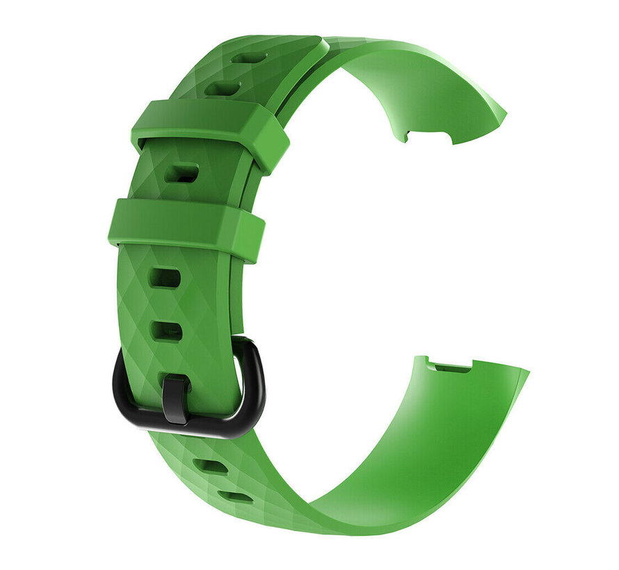 Strap-it® Fitbit Charge 3 silicone band (groen)