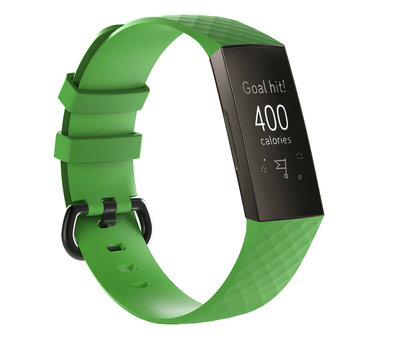 Strap-it® Strap-it® Fitbit Charge 3 silicone band (groen)
