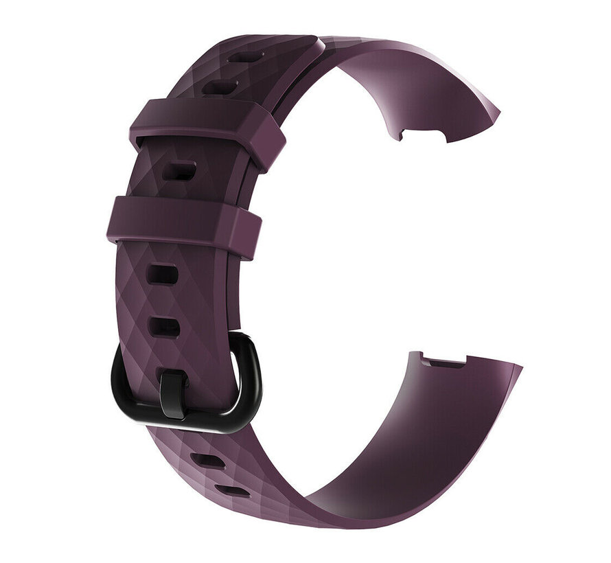 Strap-it® Fitbit Charge 3 silicone band (paars)