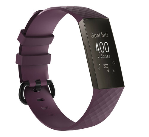 Strap-it® Strap-it® Fitbit Charge 3 silicone band (paars)