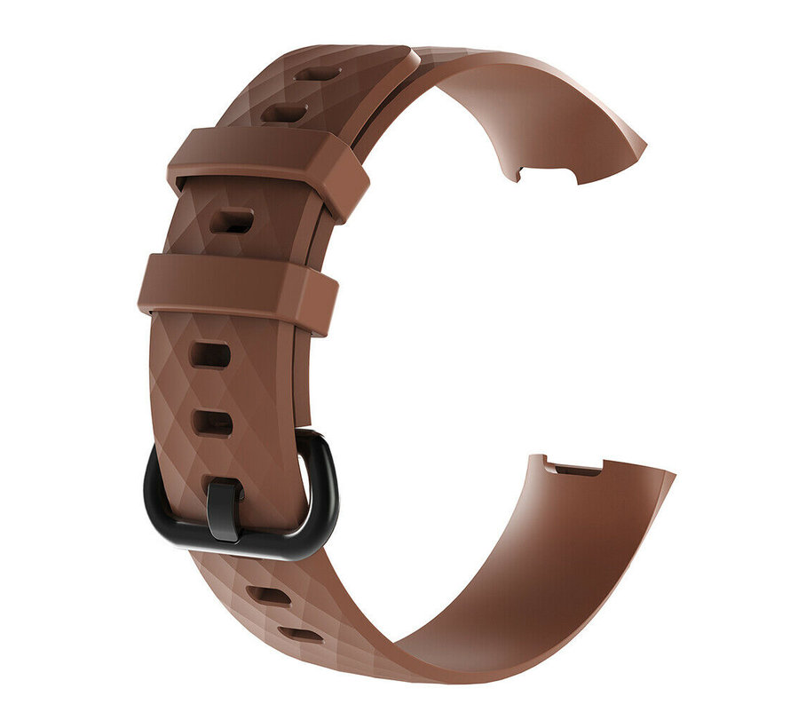 Strap-it® Fitbit Charge 3 silicone band (bruin)