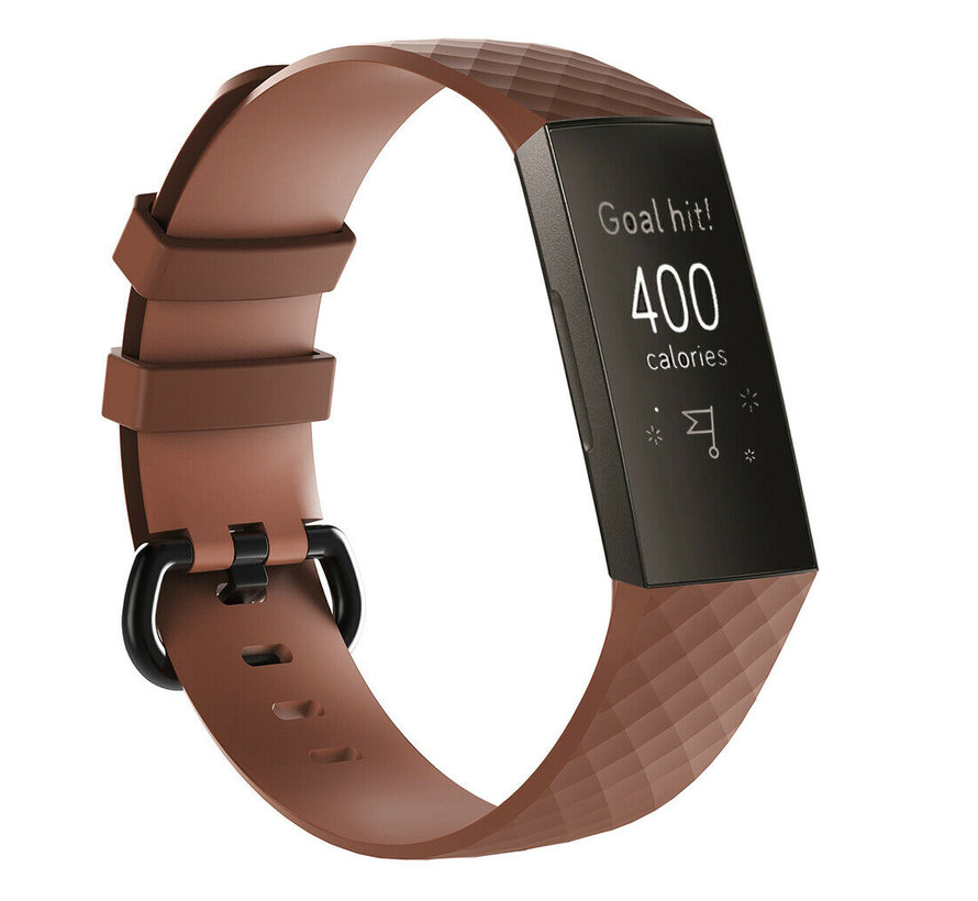 Fitbit Charge 3 silicone band (bruin)