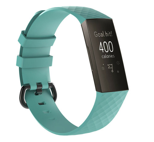Strap-it® Strap-it® Fitbit Charge 3 silicone band (aqua)