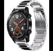Huawei Watch GT stalen band (zilver/zwart)