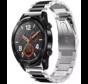 Strap-it® Huawei Watch GT stalen band (zilver/zwart)
