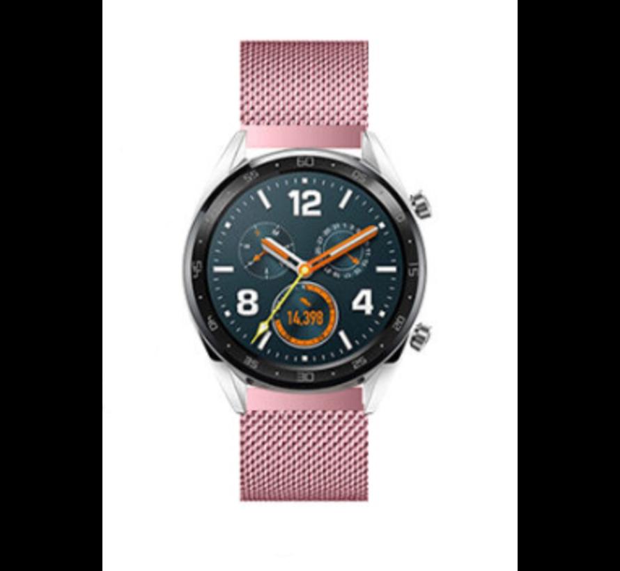 Strap-it® Huawei Watch GT Milanese band (roze)