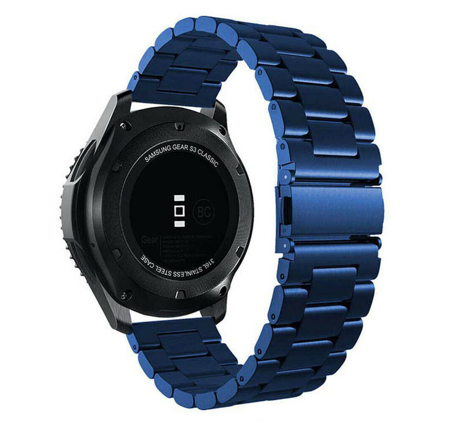 Strap-it® Garmin Vivoactive 3 stalen band (blauw)
