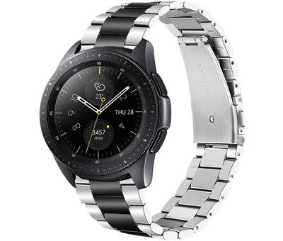 Strap-it® Strap-it® Samsung Galaxy Watch stalen band 41mm / 42mm (zilver/zwart)