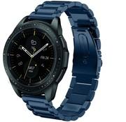 Strap-it® Samsung Galaxy Watch stalen band 41mm / 42mm (blauw)