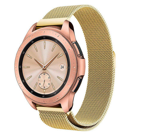 Strap-it® Strap-it® Samsung Galaxy Watch Milanese band 41mm / 42mm (goud)