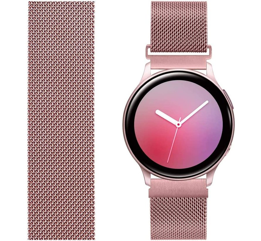 Strap-it® Samsung Galaxy Watch Milanese band 41mm / 42mm (roze)