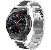 Samsung Galaxy Watch stalen band 45mm / 46mm (zilver/zwart)