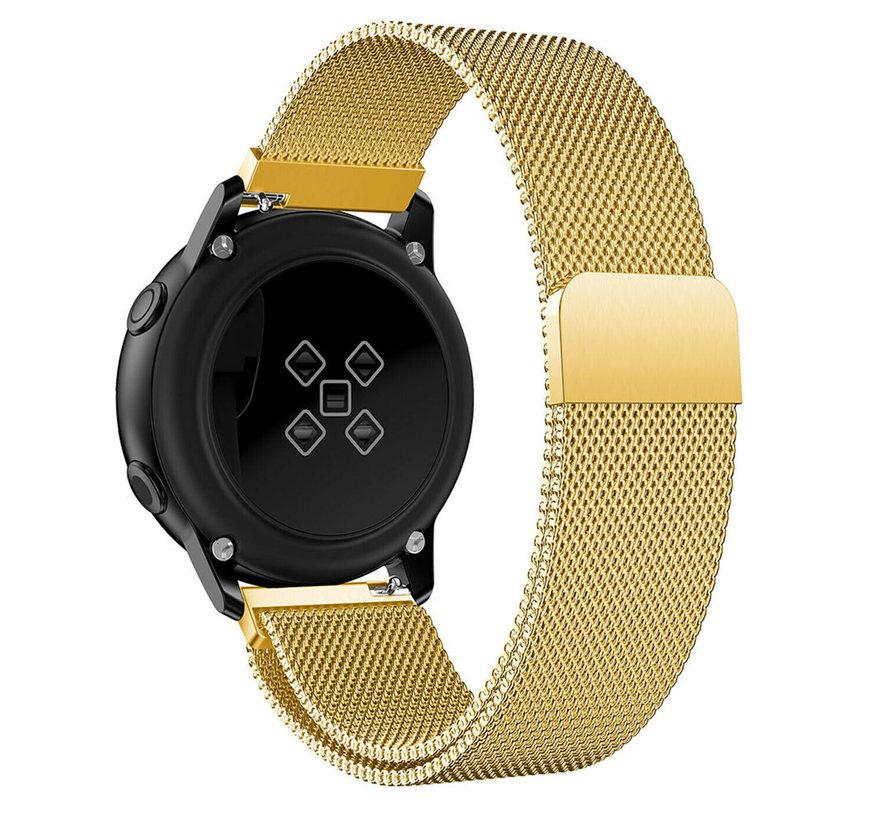 Samsung Galaxy Watch Active Milanese band (goud)