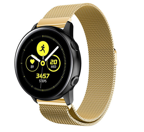 Strap-it® Strap-it® Samsung Galaxy Watch Active Milanese band (goud)