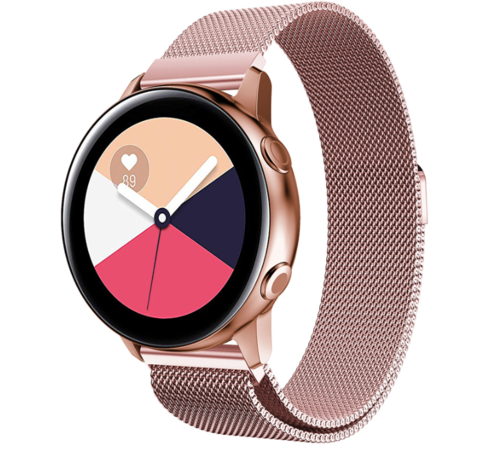 Strap-it® Strap-it® Samsung Galaxy Watch Active Milanese band (roze)