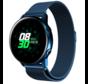 Strap-it® Samsung Galaxy Watch Active Milanese band (blauw)