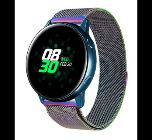 Strap-it® Strap-it® Samsung Galaxy Watch Active Milanese band (regenboog)