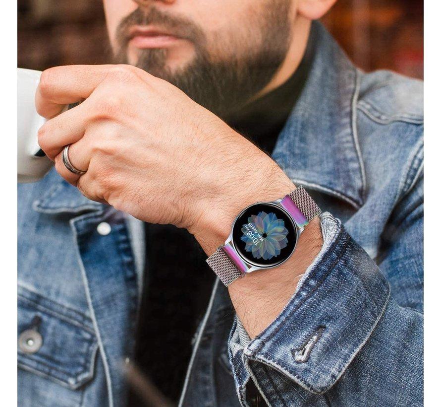 Strap-it® Samsung Galaxy Watch Active Milanese band (regenboog)