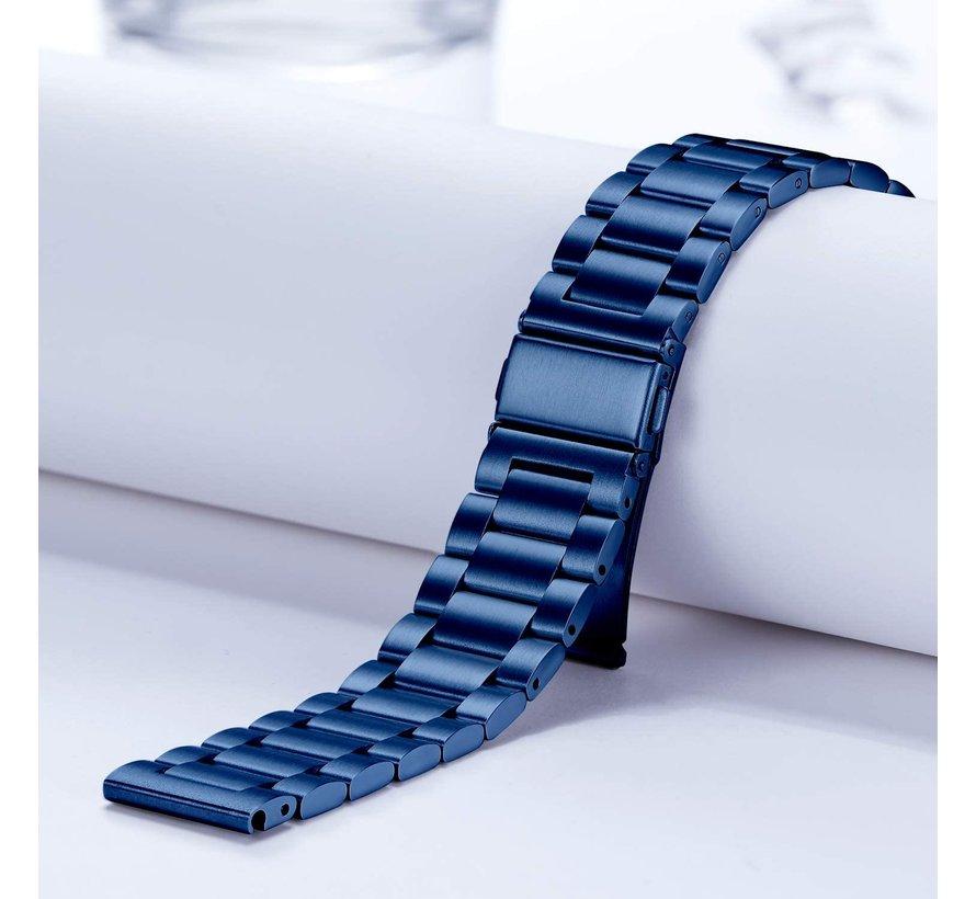 Strap-it® Samsung Galaxy Watch Active stalen band (blauw)