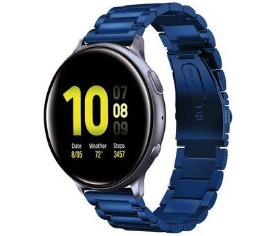 Strap-it® Strap-it® Samsung Galaxy Watch Active stalen band (blauw)