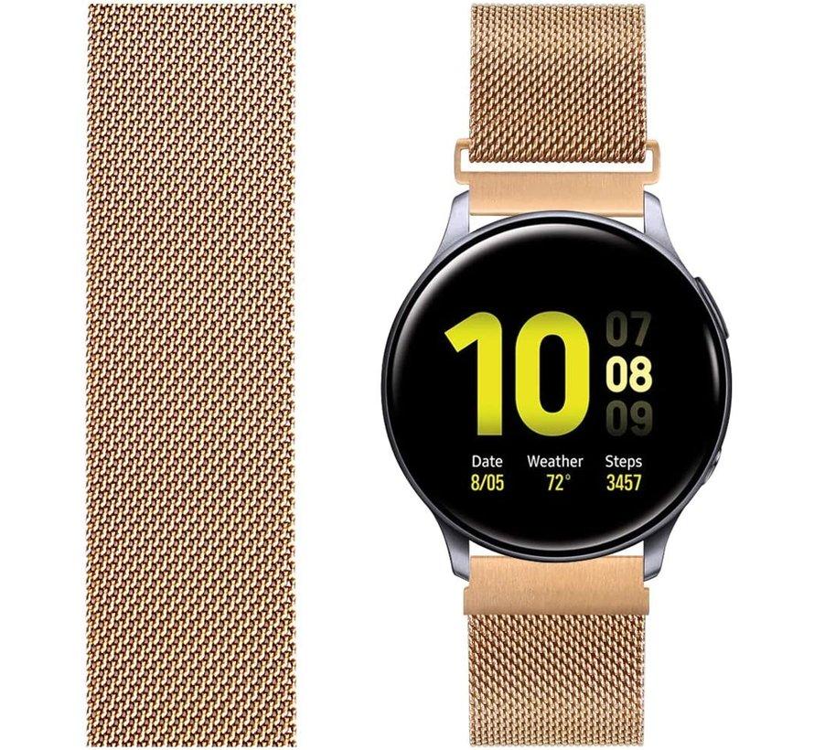 Samsung Galaxy Watch Active Milanese band (rosé goud)