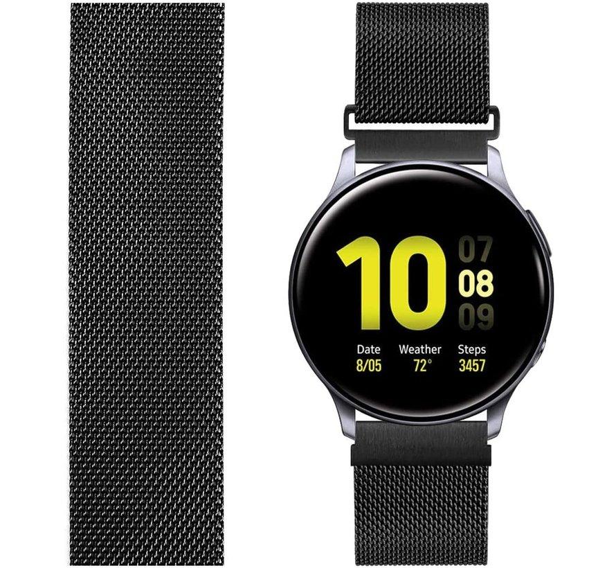 Strap-it® Samsung Galaxy Watch Active Milanese band (zwart)