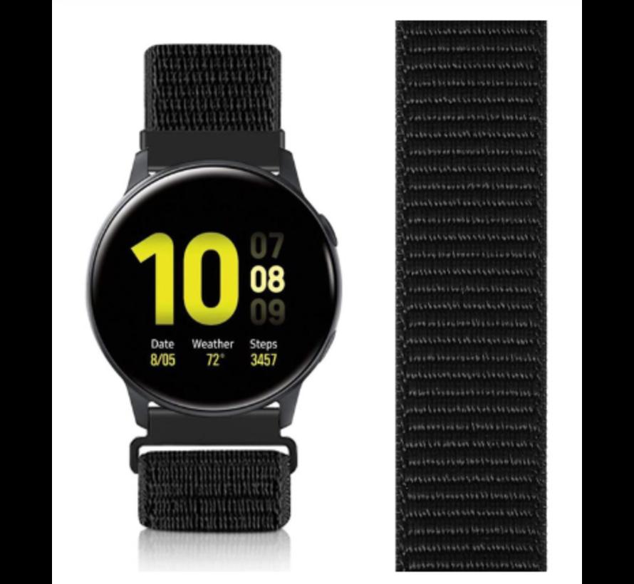 Strap-it® Samsung Galaxy Watch Active nylon band zwart