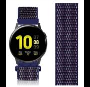 Strap-it® Samsung Galaxy Watch Active nylon band (paars-blauw)