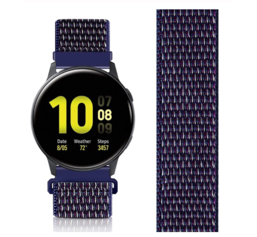 Samsung Galaxy Watch Active nylon band (paars-blauw)